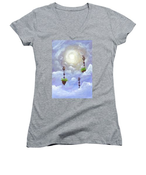 Among The Clouds Women's V-Neck (Athletic Fit)