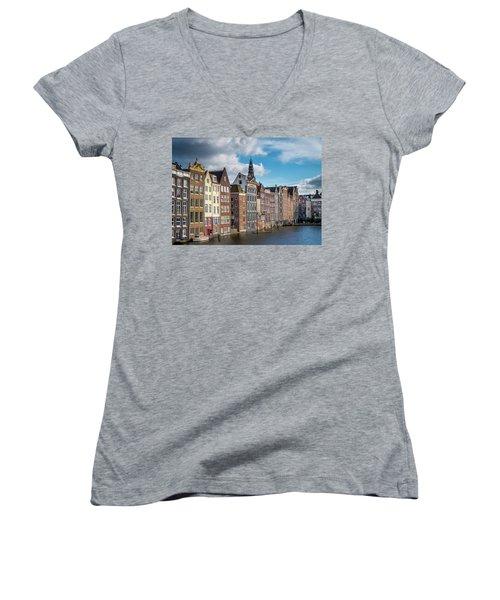 Amsterdam Buildings Women's V-Neck T-Shirt