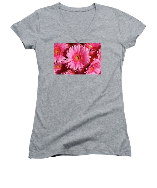 Women's V-Neck T-Shirt (Junior Cut) featuring the photograph Amsterdam In Pink by KG Thienemann
