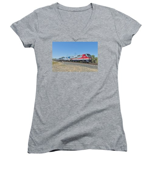 Amtrak 42  Veteran's Special Women's V-Neck T-Shirt
