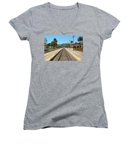 Amtrak Station, Santa Barbara, California Women's V-Neck