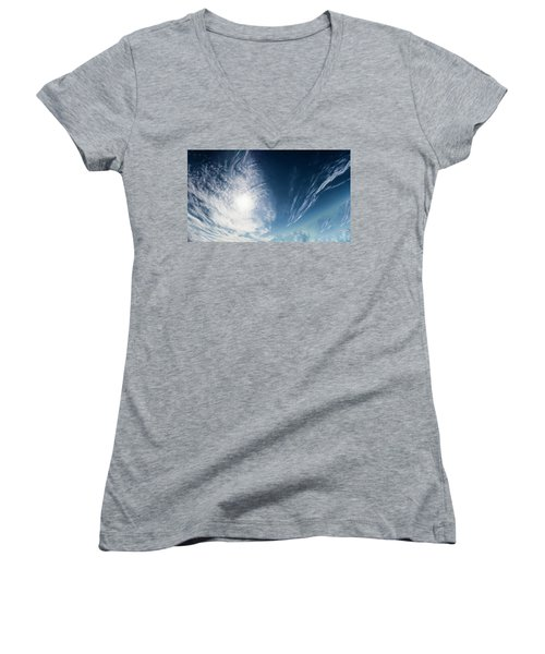 An Abstract Sky Women's V-Neck