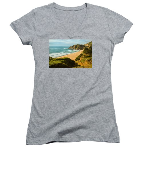 An Afternoon At The Beach Women's V-Neck