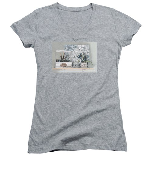 An Artist's Shelf Women's V-Neck T-Shirt