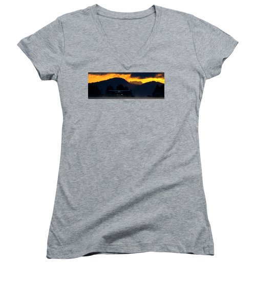 Another Early Departure Women's V-Neck T-Shirt