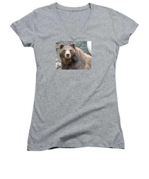 An Eye On You 2 Women's V-Neck T-Shirt (Junior Cut) by Harold Piskiel