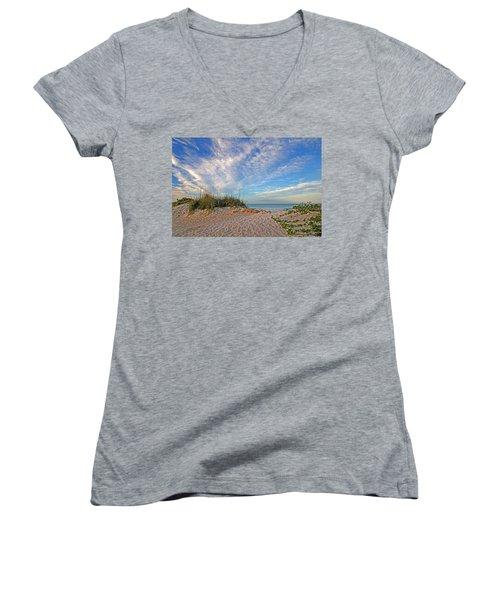 An Invitation - Florida Seascape Women's V-Neck T-Shirt