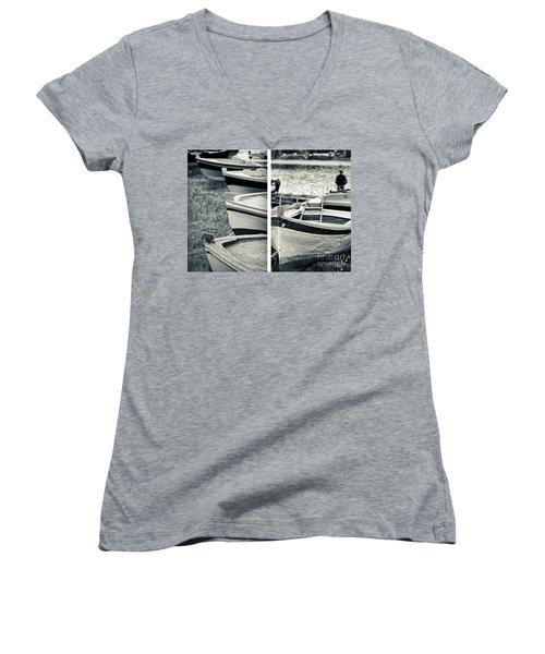 An Old Man's Boats Women's V-Neck T-Shirt