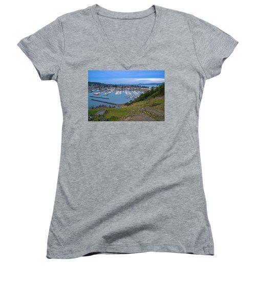 Anacortes Peaceful Morning Women's V-Neck T-Shirt