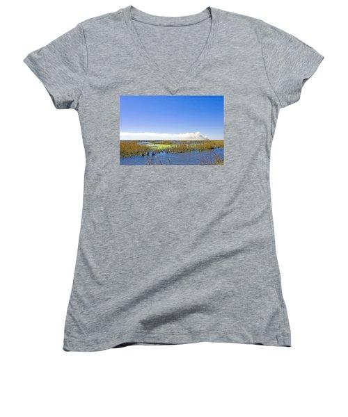 Anahuac Marshes Women's V-Neck T-Shirt