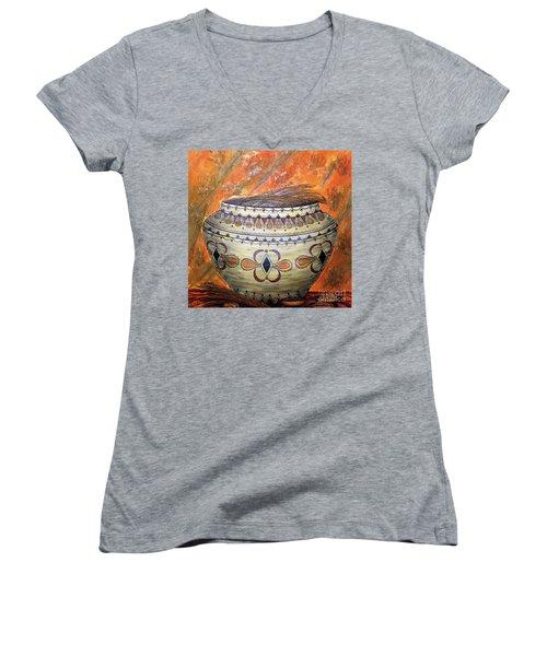 Ancestors Women's V-Neck T-Shirt (Junior Cut) by Kim Jones
