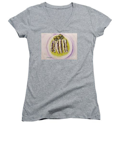 Anchovies And Olives Women's V-Neck