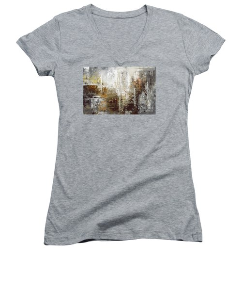 Ancient Archives Women's V-Neck T-Shirt (Junior Cut) by Tatiana Iliina