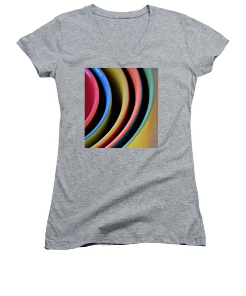 And A Dash Of Color Women's V-Neck T-Shirt