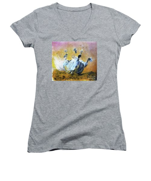 And The Fall Is Flight I Women's V-Neck T-Shirt