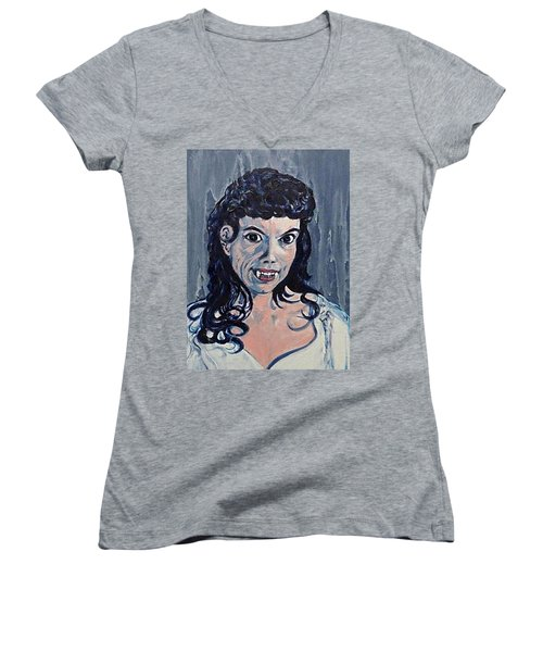 Andree Melly As Gina In The Brides Of Dracula  Women's V-Neck T-Shirt