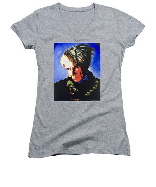 Andy Warhol Women's V-Neck T-Shirt (Junior Cut) by Victor Minca