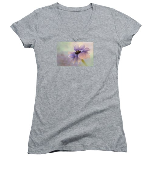 Anemone Flower Women's V-Neck (Athletic Fit)