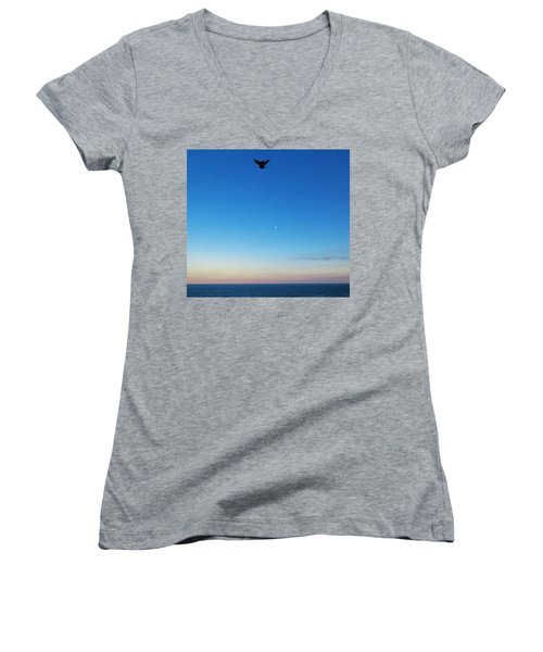 Angel Bird Women's V-Neck T-Shirt