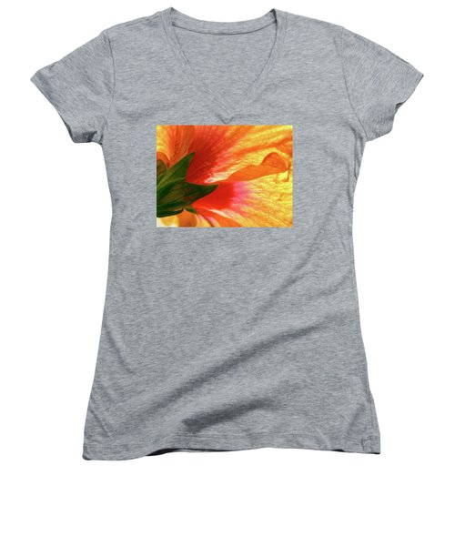 Women's V-Neck T-Shirt (Junior Cut) featuring the photograph Angel Brushstrokes  by Marie Hicks
