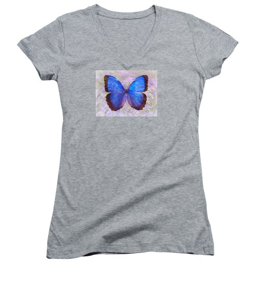 Angel In Blue Women's V-Neck T-Shirt