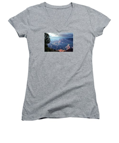 Angel S Gate And Wotan S Throne Grand Canyon National Park Women's V-Neck (Athletic Fit)
