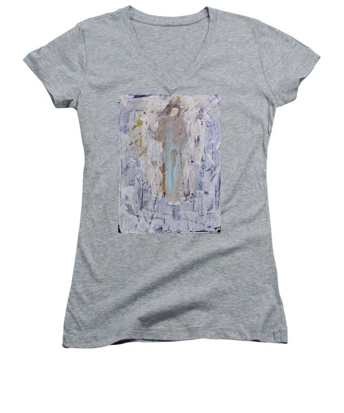 Angel With Her Horse Women's V-Neck