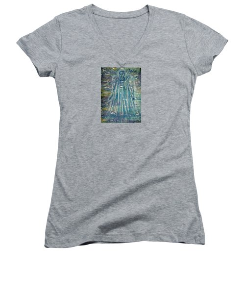 Angelic Being 2 Women's V-Neck (Athletic Fit)