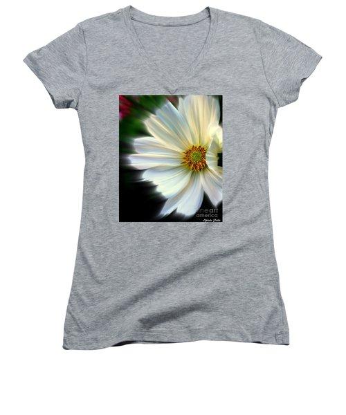 Angelic Women's V-Neck T-Shirt (Junior Cut) by Elfriede Fulda