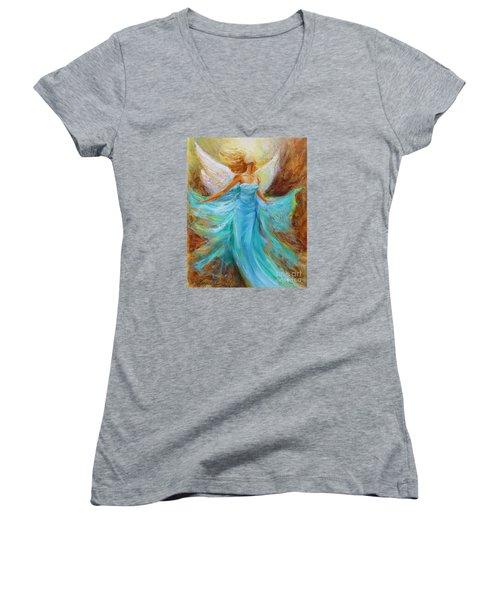 Angelic Rising Women's V-Neck (Athletic Fit)