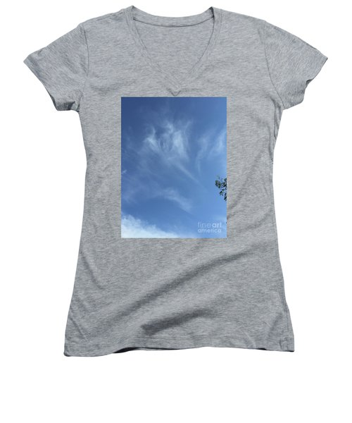 Angels Appear Over The Old Farm Women's V-Neck (Athletic Fit)