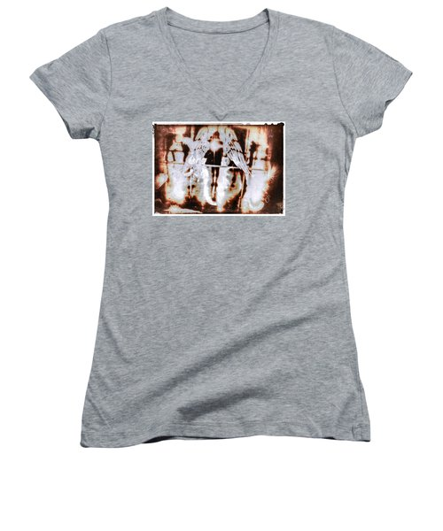 Angels In The Mirror Women's V-Neck