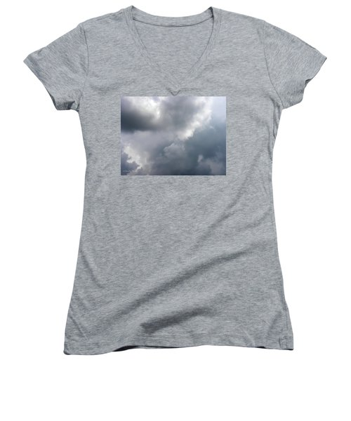 Women's V-Neck T-Shirt (Junior Cut) featuring the photograph Angels In The Sky by Sandi OReilly
