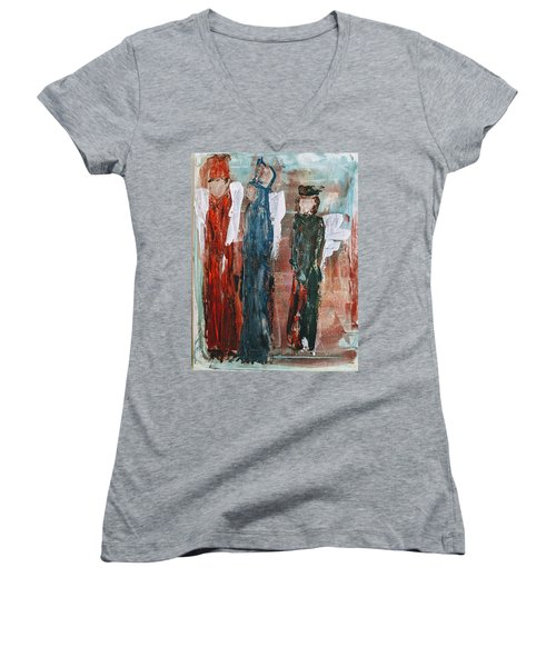 Angels Of The Night Women's V-Neck