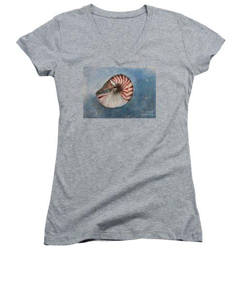 Angel's Seashell  Women's V-Neck T-Shirt