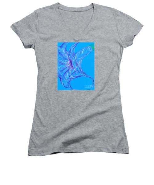 Women's V-Neck T-Shirt (Junior Cut) featuring the photograph Angel's Trumpet by Kim Sy Ok