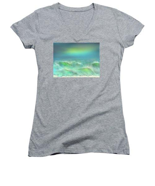 Angry Irma Women's V-Neck T-Shirt