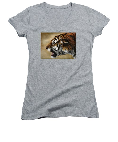 Angry Siberian Women's V-Neck (Athletic Fit)