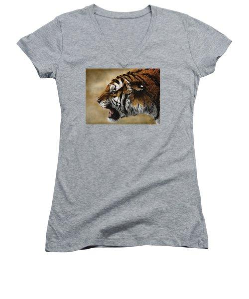 Angry Siberian Women's V-Neck T-Shirt