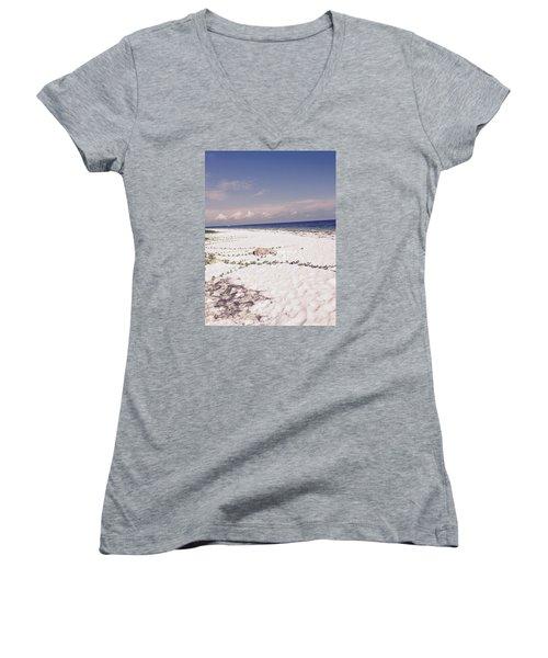 Anna Maria Island Beyond The White Sand Women's V-Neck T-Shirt (Junior Cut)