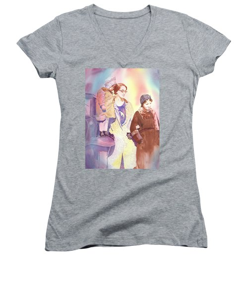 Anna Nation And Her Girls, 1932      Women's V-Neck T-Shirt