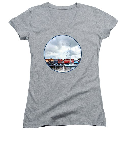 Annapolis Md - City Dock Women's V-Neck T-Shirt