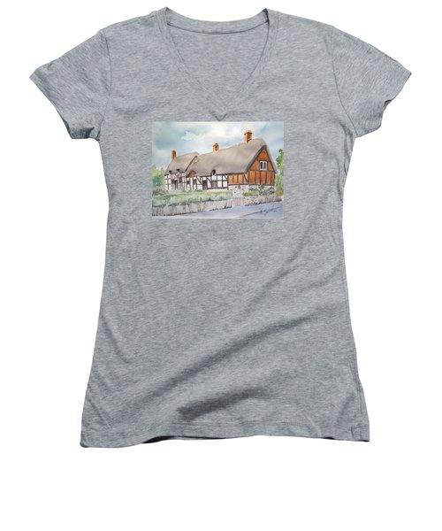 Anne Hathaway's Cottage Women's V-Neck T-Shirt