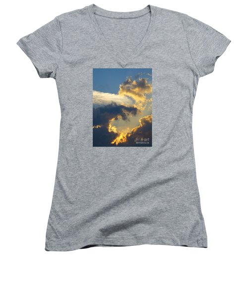 Another Beautiful Grouping Of Florida Clouds At Sunset.  Women's V-Neck (Athletic Fit)