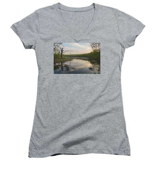 Another Era Women's V-Neck T-Shirt (Junior Cut) by Angelo Marcialis