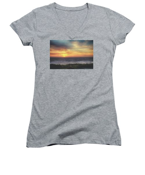 Another Goodbye Women's V-Neck T-Shirt (Junior Cut) by Laurie Search