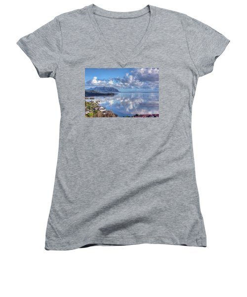 Another Kaneohe Morning Women's V-Neck T-Shirt