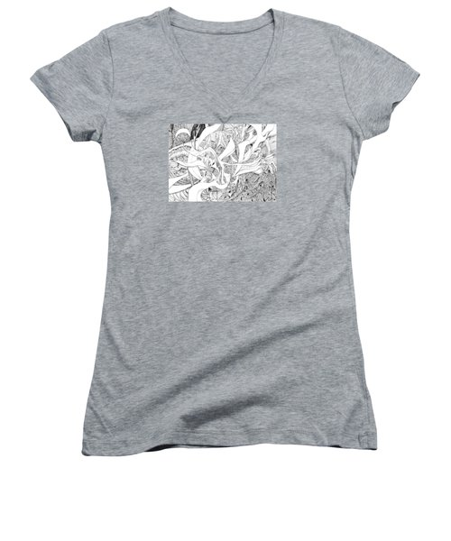 Another Kind Of Peace Women's V-Neck T-Shirt (Junior Cut) by Charles Cater