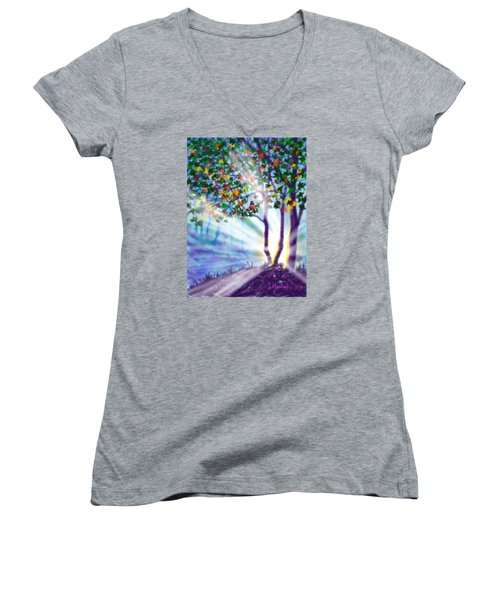 Another Lightburst Women's V-Neck