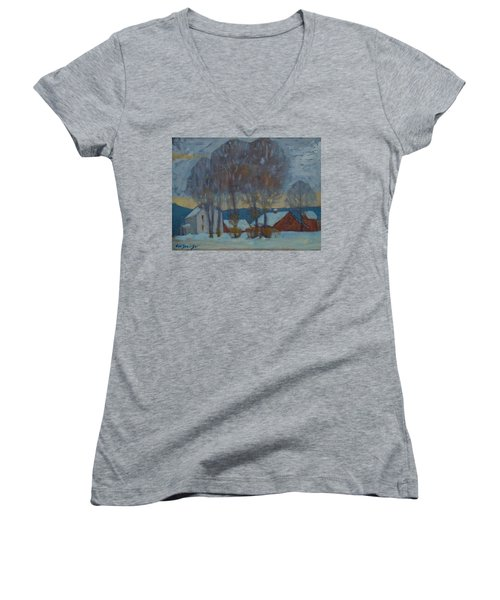Another Look At Kordana's Women's V-Neck T-Shirt (Junior Cut) by Len Stomski
